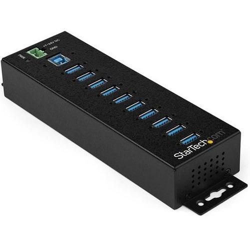 StarTech.com Industrieller USB 3.0-Hub 10 Ports und externes Netzteil - Überspannungsschutz - UASP-Support - 10 Total USB