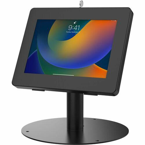 "CTA Digital Hyperflex Security Kiosk Stand for Tablets (Black) - 8.7"" Height x 8.3"" Width x 11"" Depth - Aluminum, Metal -"