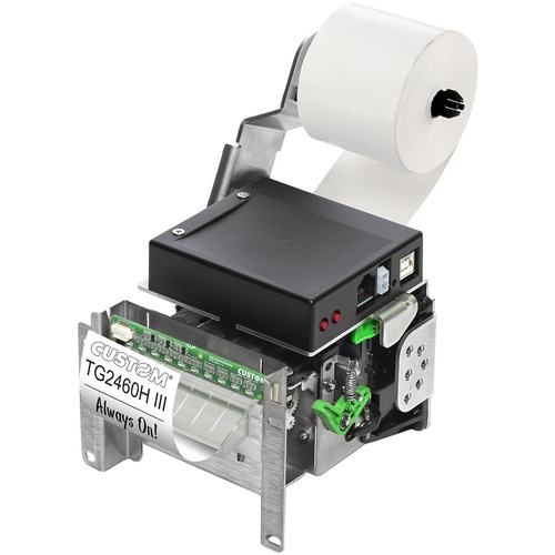 Custom TG2460HIII Direkthermodrucker - Monochrom - Ticketdruck - USB - Seriell - 140 mm/s Monodruck - 203 dpi Druckauflösung