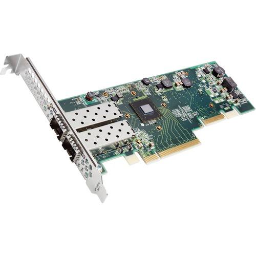 Xilinx XtremeScale SFN8522-PLUS Dual-Port 10GbE SFP+ Network Adapter - PCI Express 3.1 x8 - 2 Port(s) - Optical Fiber - 10