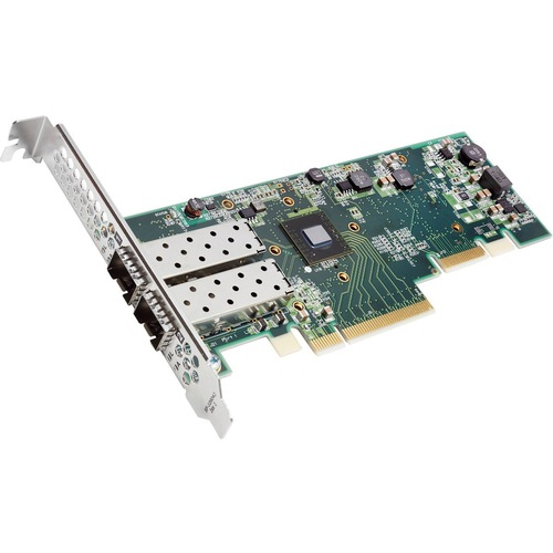 Solarflare XtremeScale SFN8522 Dual-Port 10GbE SFP+ Network Adapter - PCI Express 3.1 x8 - 2 Port(s) - Optical Fiber - 10G