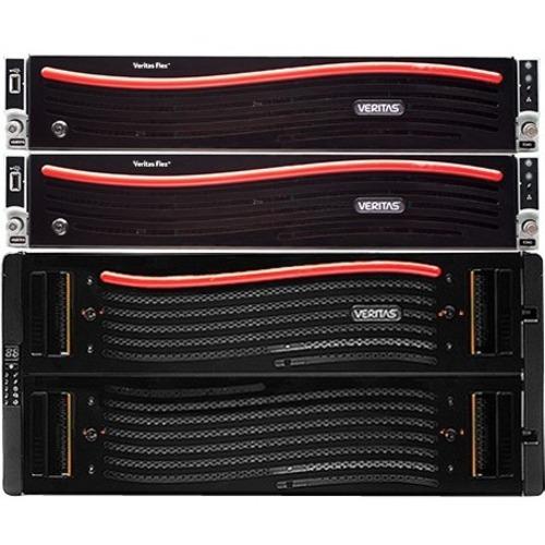 Veritas Flex System 5340 HA NAS Storage System - 2 x Intel Xeon 2 GHz - 90 x HDD Installed - 360 TB Installed HDD Capacity