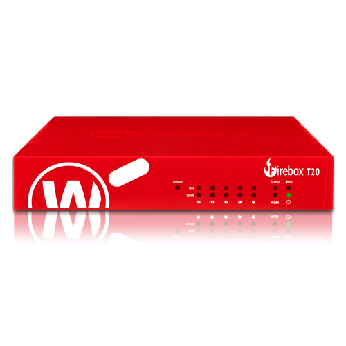 WatchGuard Trade Up to WatchGuard Firebox T20 with 3-yr Basic Security Suite (WW) - 5 Port - 10/100/1000Base-T - Gigabit E