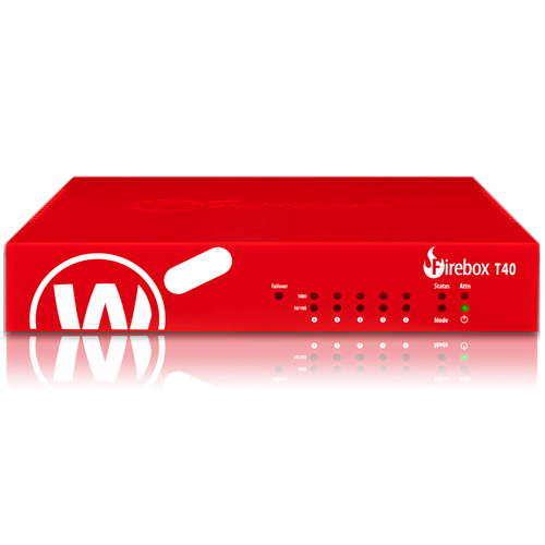 WatchGuard Trade Up to WatchGuard Firebox T40 with 3-yr Total Security Suite (US) - 5 Port - 10/100/1000Base-T - Gigabit E