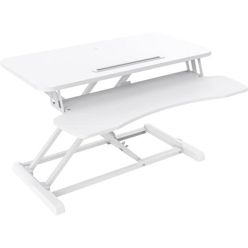 V7 DT2SSW Multifunktions-Erhöhung für PC - 50 cm Höhe x 61,5 cm Breite - Desktop - Weiß