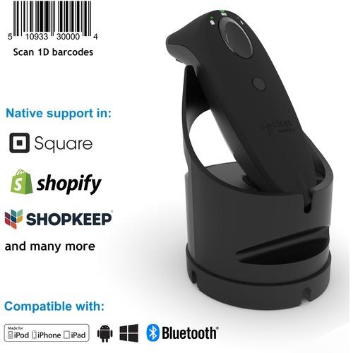 Handheld Scanner de code à barre Socket Mobile SocketScan S700 - Noir - Sans fil Connectivité - 340,11 mm Distance de lect