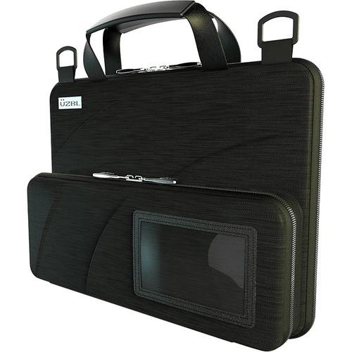 "UZBL Always-On Carrying Case for 11"" to 11.6"" Chromebook, Notebook - Black - Drop Resistant, Shock Resistant, Debris Resis"