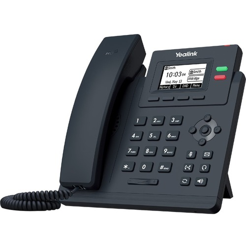 Yealink SIP-T31G IP Phone - Corded - Corded - Wall Mountable - Classic Gray - 2 x Total Line - VoIP - 2 x Network (RJ-45)