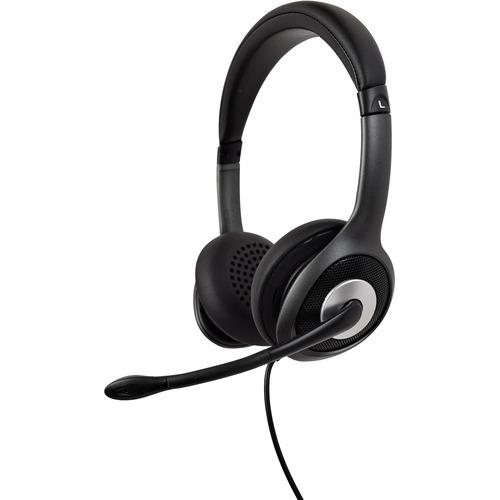 Casque V7 Deluxe HU530C - Filaire - Design Sur tête - Stéréo - Couleur Noir, Gris - Binaural - Circumaural - 32 Ohm - Fréq