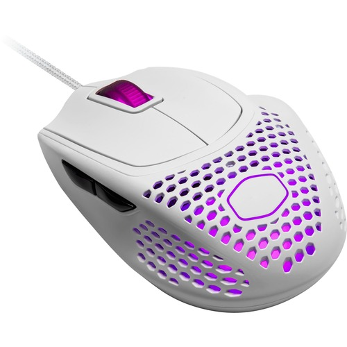 Cooler Master MasterMouse MM720 Gaming Mouse - Optical - Cable - Matte White - 16000 dpi - Scroll Wheel - 6 Button(s) - Ri