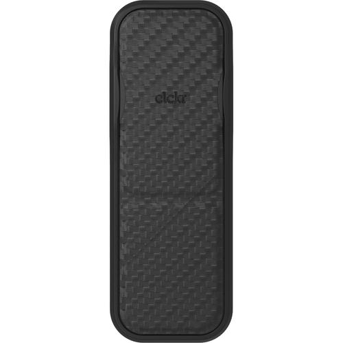 """Clckr Universal Stand and Grip (Carbon Fiber Black) - Landscape, Portrait - 3.8"""" x 1.4"""" x - Carbon Fiber Black CARBON FIBER"""
