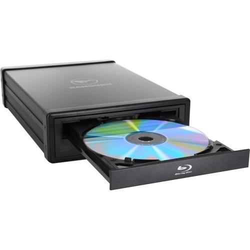 Kanguru U3-BDRW-16X Blu-ray Writer - Black - TAA Compliant - BD-R/RE Support - 48x CD Read/48x CD Write/24x CD Rewrite - 1