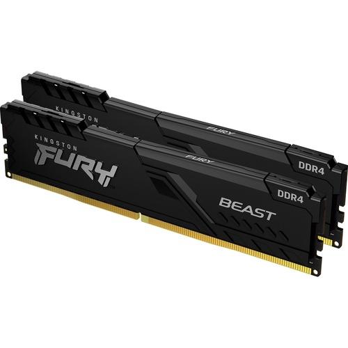 Kingston FURY Beast RAM-Modul - 16 GB (2 x 8GB) - DDR4-3200/PC4-25600 DDR4 SDRAM - 3200 MHz - CL16 - 1,35 V - 288-Pin - DIMM