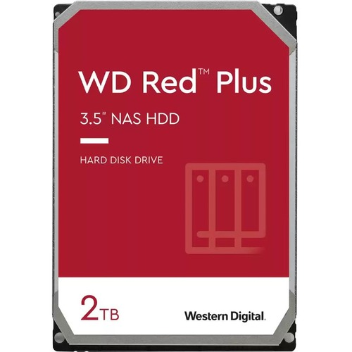 "Western Digital - IMSourcing Certified Pre-Owned Red Plus WD20EFRX-RF 2 TB Hard Drive - 3.5"" Internal - SATA (SATA/600) -"