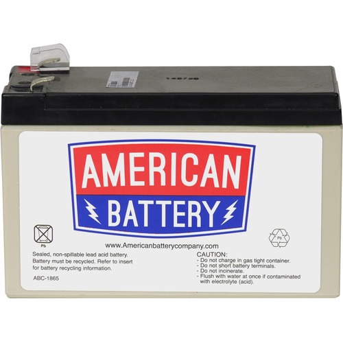 ABC RBC17 Replacement Battery Cartridge #17 - 12V DC - Maintenance-free Sealed Lead Acid Hot-swappable FOR APC UNITS 2YR W